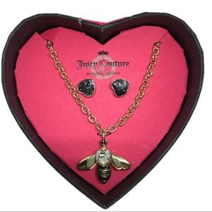 Juicy Couture Bee Gold Necklace & Earring Set